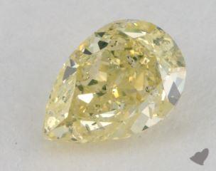 pear0.74 Carat fancy greenish yellow
