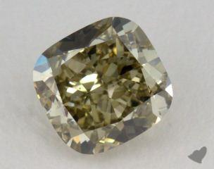 cushion1.08 Carat fancy greenish greenish yellowVS2