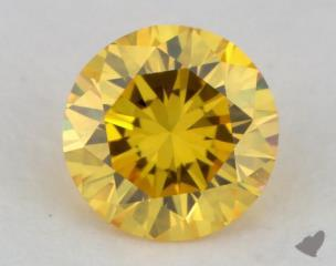 round0.26 Carat fancy vivid yellow