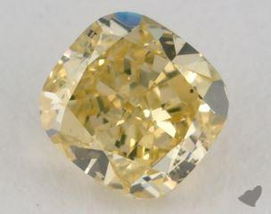 cushion0.73 Carat fancy intense yellow