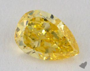 pear1.10 Carat fancy intense yellowVS2