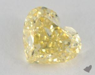 heart2.29 Carat fancy yellowVS2