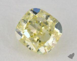 cushion0.52 Carat fancy yellow