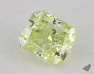 radiant0.51 Carat fancy greenish yellow