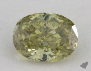oval0.62 Carat fancy deep brownish greenish yellow
