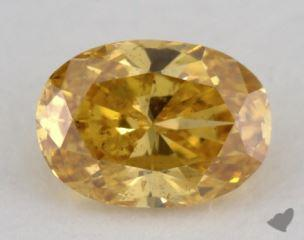 oval0.39 Carat fancy vivid orangy yellowSI2