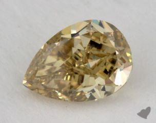 pear1.14 Carat fancy deep brownish greenish yellowVS1