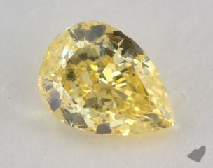 pear2.09 Carat fancy vivid yellowSI2