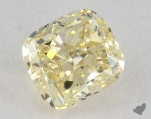cushion1.05 Carat fancy light yellowVVS2