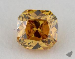 radiant0.31 Carat fancy deep orangy yellowVS2