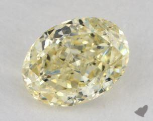 oval1.05 Carat fancy light yellowSI2
