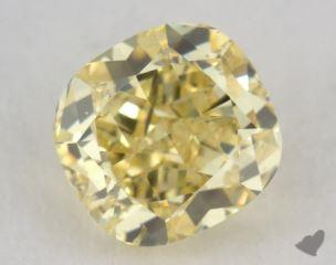 cushion1.01 Carat fancy intense yellowI1