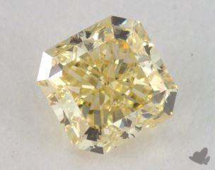 radiant0.67 Carat fancy yellowVVS2