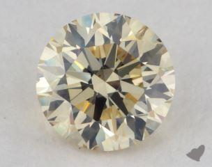 round0.82 Carat light brownish yellowSI1