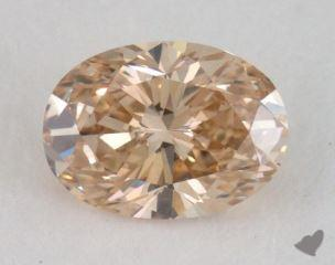 oval0.72 Carat fancy brownish yellowVS2