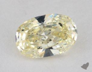 oval1.31 Carat light yellowVS2