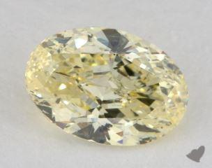 oval1.19 Carat fancy yellowI1