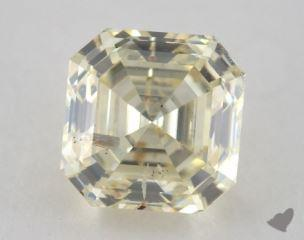 square emerald2.01 Carat light yellowI1