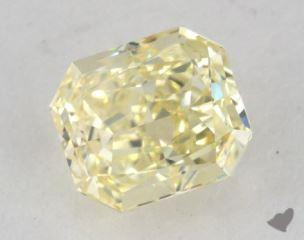 radiant0.92 Carat fancy light yellowVVS1