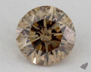 round2.51 Carat fancy dark yellow brown