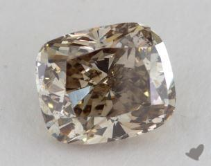 cushion3.01 Carat fancy dark yellow brownSI2
