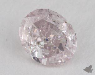 oval0.32 Carat light pink