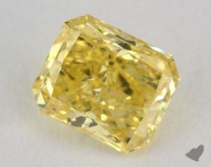 radiant1.00 Carat fancy vivid yellowI1