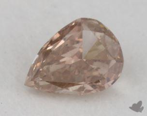 pear0.24 Carat fancy brownish orangy pinkI1