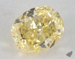 oval1.03 Carat fancy yellowVS2