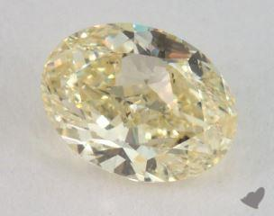 oval1.00 Carat fancy light yellowSI1