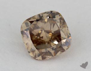 cushion2.41 Carat fancy orange brownSI1