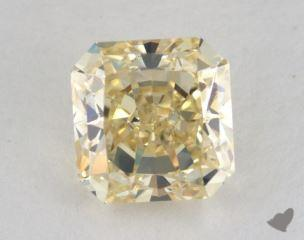 radiant1.59 Carat fancy light brownish yellowVVS2
