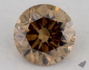 round1.01 Carat fancy yellowish brownVS2