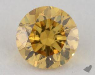 round0.31 Carat fancy intense orange yellowI1