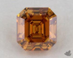 square emerald0.27 Carat fancy deep yellowish orangeVS2