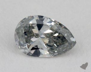 pear0.57 Carat fancy graySI1
