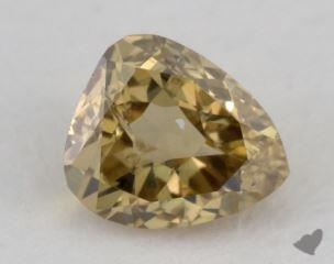 pear0.35 Carat fancy deep brownish greenish yellowI1