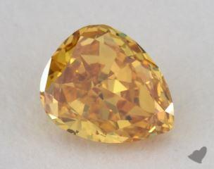 pear0.41 Carat fancy vivid orangy yellowVS1
