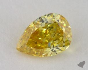 pear0.59 Carat fancy intense orange yellowVS2