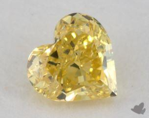 heart0.70 Carat fancy intense yellowSI1
