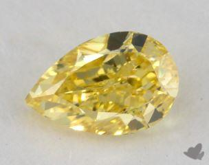 pear0.70 Carat fancy vivid yellowVS2