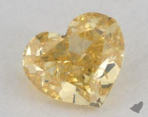 heart0.77 Carat fancy vivid yellowSI2