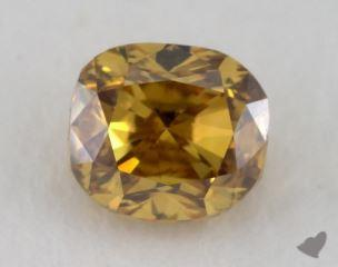 cushion0.28 Carat fancy deep brownish yellowVS1