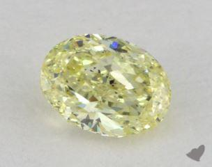 oval0.57 Carat fancy yellowSI2