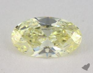 oval0.59 Carat fancy light yellowSI1