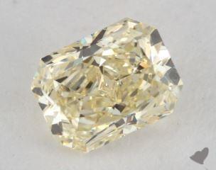 radiant0.82 Carat fancy light yellowVS1