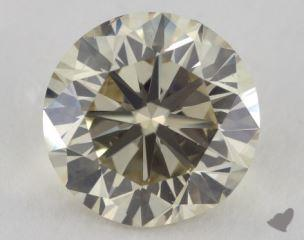 round3.57 Carat fancy light brownish yellowSI1