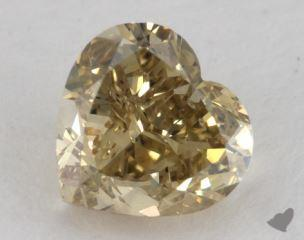 heart1.50 Carat fancy deep brownish greenish yellowSI2