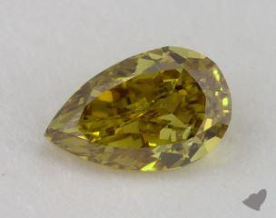 pear0.50 Carat fancy deep brownish greenish yellowSI1