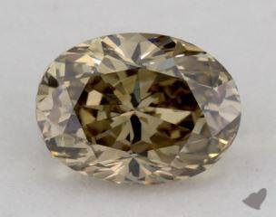 oval1.62 Carat fancy dark yellow brownSI1